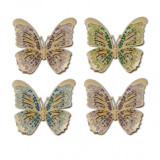 Butterflies Gold Napkin Rings