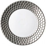 Aegean Sculpted Platinum Dinnerware
