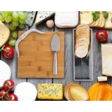 Western Longhorn Cheese Set Bamboo Board