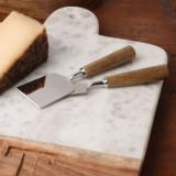 Mango Wood Set/2 Cheese Knives
