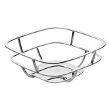SILVER TIME Silver Plated Bread Basket with Napkins