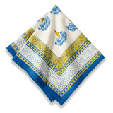 Bleuet Blue/Green Napkin 19 x 19 in, Six
