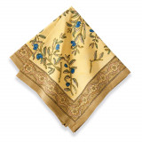 Olive Tree Gold/Blue Napkin, Six