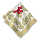 Cherry Red/Green Napkins 19 x 19 in, Six