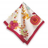 Treetop Multi Red Napkins 19 x 19 in, Six