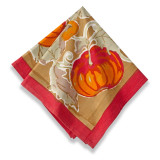 Pumpkin Green/Red Napkins 19 x 19 in, Six