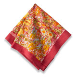 Jardin Yellow/Red Napkins 19 x 19 in, Six