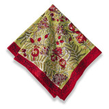 Winter Garden Wreath Red Napkins 19 x 19 in, Six