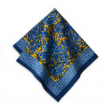 Bougainvillea Yellow/Blue Napkins 19 x 19 in, Six