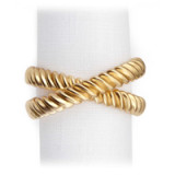 Deco Twist Gold Napkin Rings - Four