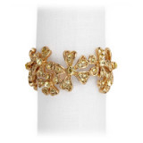 Garland Gold Napkin Rings - Four