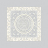Imperatrice Argent 21 in.x21 in. Polycotton Napkin