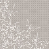 Persephone Etain 22 in.x22 in. Cotton Polylinen Napkin