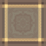 Fontainebleau Tilleul 21 in.x21 in. Cotton Napkin