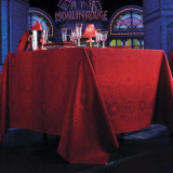 Frou Frou Red Curtain Table Linens