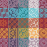 Mille Tiles Multicolore 22 in.x22 in. Napkin