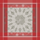 Snowflakes Red Napkin 22 in.x22 in.