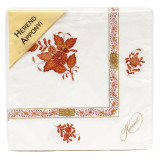 Chinese Bouquet Rust Paper Napkins Pack Of 20
