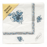 Chin Bqt Turquoise & Platinum Paper Napkins Pack Of 20