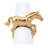 Horse Gold Napkin Rings, Four