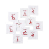 Country Estate Reindeer Games Cocktail Coasters/Cocktail Napkins Set of 9 Reindeer with Pouch