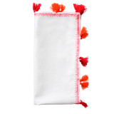 Pom Pom White/Fuchsia/Orange Napkins