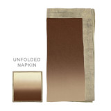 Dip Dye Natural/Brown/Gold Napkins