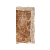 Dip Dye Gauze White/Brown Napkins