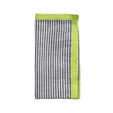 Seersucker Ribbon Black/Neon Green Napkins