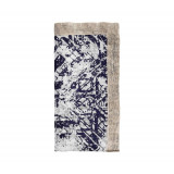 Distressed White/Navy Napkins