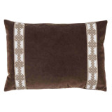 Café Velvet Withamalfi Natural Tape Lumbar Pillow 13 X 19 In