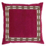 Blossom Velvet 22×22 Pillow with Amalfi Charcoal Tape