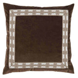 Café Velvet Withamalfi Natural Tape Pillow 22 X 22 In