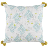 Sedona Mineral With Pom Poms Pillow 24 X 24 In