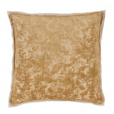 Medici Brass Antiqued Chenille With Danish Linen Flange Pillow 22 X 22 In