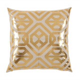 Isabella Brass Foil On Danish Linen Pillow 20 X 20 In