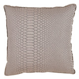 Alligator Nickel With Natural Linen Flange Pillow 20 X 20 In