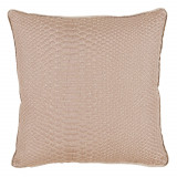 Alligator Brass With Danish Linen Flange Pillow 20 X 20 In
