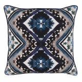 Blue Diamond Print With Aruba Flange Pillow 20 X 20 In