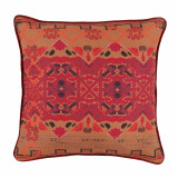 Rosa Print With Carmine Flange Pillow 20 X 20 In