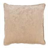 Medici Parchment Antiqued Chenille With Danish Linen Flange Pillow 22 X 22 In