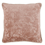 Medici Blush Antiqued Chenille With Danish Linen Flange Pillow 22 X 22 In