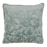 Medici Glacier Antiqued Chenille With Natural Linen Flange Pillow 22 X 22 In