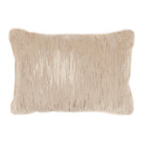 La Costa Natural Lumbar With Fleece Velvet Flange Pillow 13 X 19 In