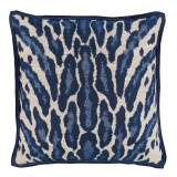 Kenya Indigo With Blue Double Flange Pillow 22 X 22 In
