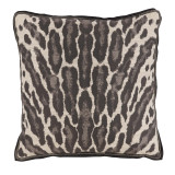 Kenya Graphite With Grey Double Flange Pillow 22 X 22 In