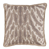 Kenya Natural With Neutral Double Flange Pillow 22 X 22 In
