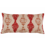 Riptide Sangria Long Lumbar With Garnet Velvet Back Pillow 14 X 28 In