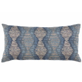 Riptide Mystic Long Lumbar With Denim Velvet Back Pillow 14 X 28 In