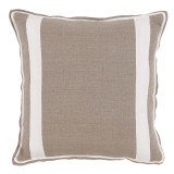 Natural Linen With Oyster Linen Inset Pillow 20 X 20 In